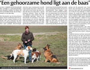 krantenartikel dierenvreugde